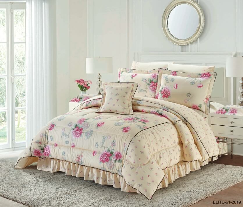 ELITE COMFORTER 9 PCS COTTON